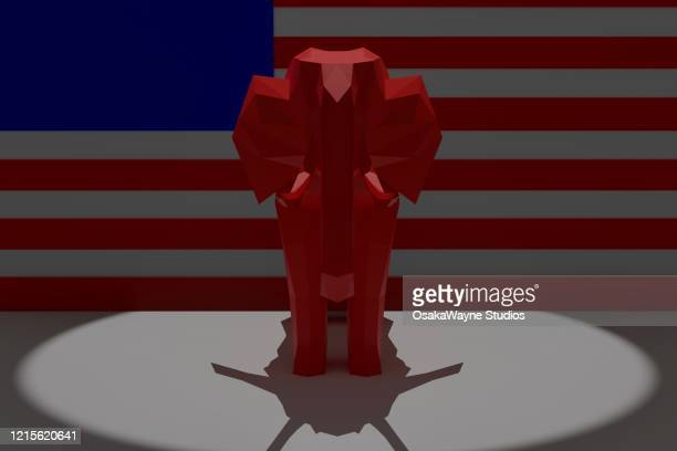 red elephant - republican national convention stock pictures, royalty-free photos & images