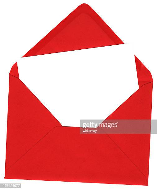 Red envelope and blank white card