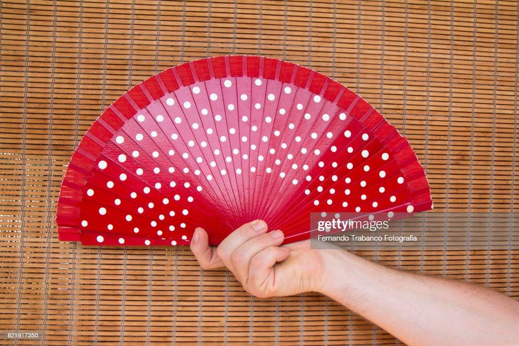 Red fan : Stock Photo