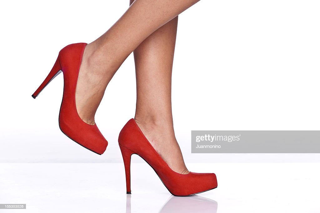 Red female shoes : Stock Photo