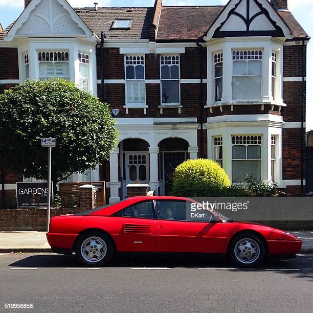Red Ferrari at London