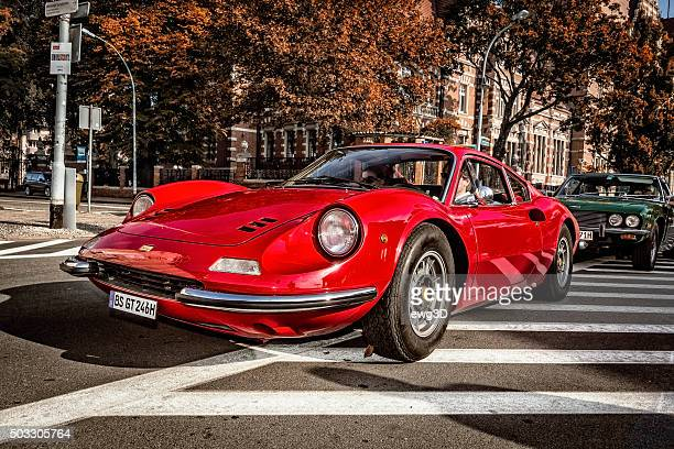red ferrari dino 246 gt - ferrari stock pictures, royalty-free photos & images