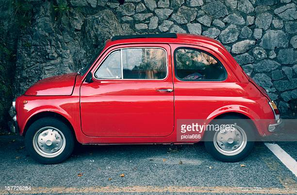 Red Fiat 500 Vintage Classic Car