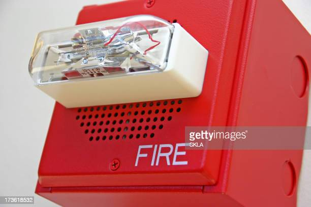 Red fire alarm (close-up)
