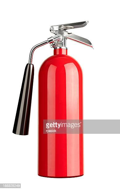 Red Fire Extinguisher Isolated on White with Clipping Path