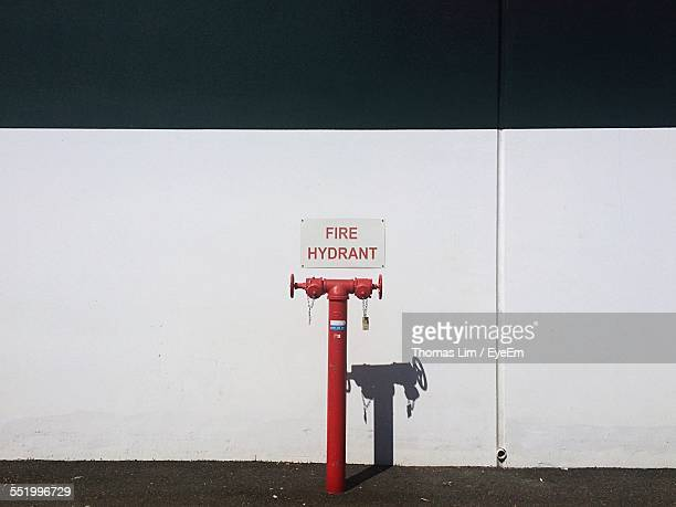 Red Fire Hydrant On Roadside