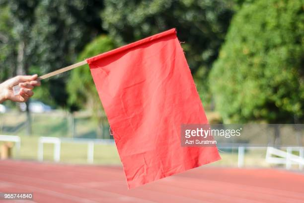 red flag at the athletic field
