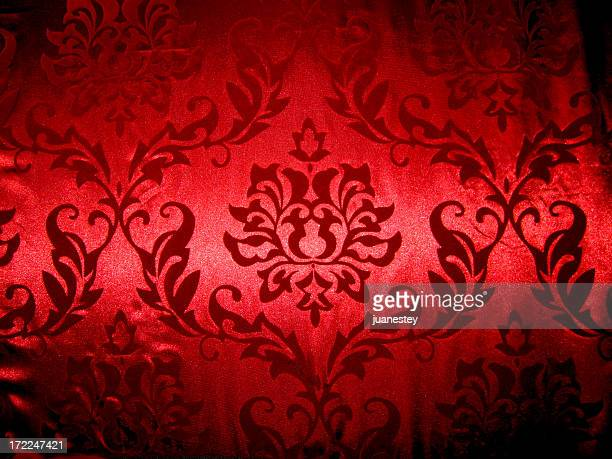 Red fleur-de-lis cloth background