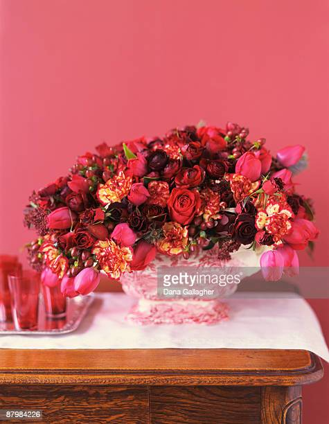 Red flower arrangement