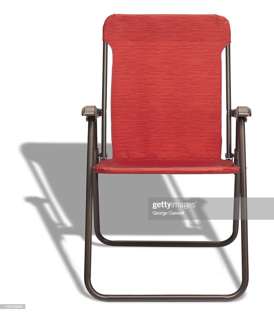 Remarkable Red Folding Lounge Chair High Res Stock Photo Getty Images Pabps2019 Chair Design Images Pabps2019Com