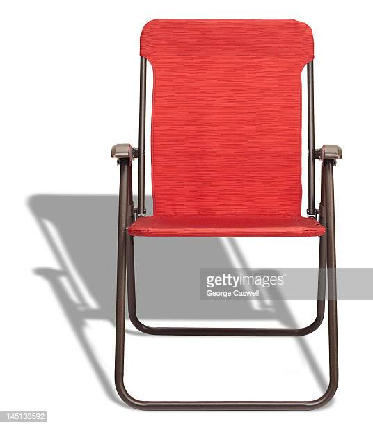 Red Folding Lounge Chair