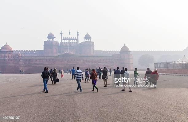 red fort, delhi - ニューデリー ストックフォトと画像
