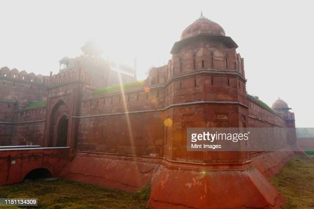 red fort - moat stock pictures, royalty-free photos & images