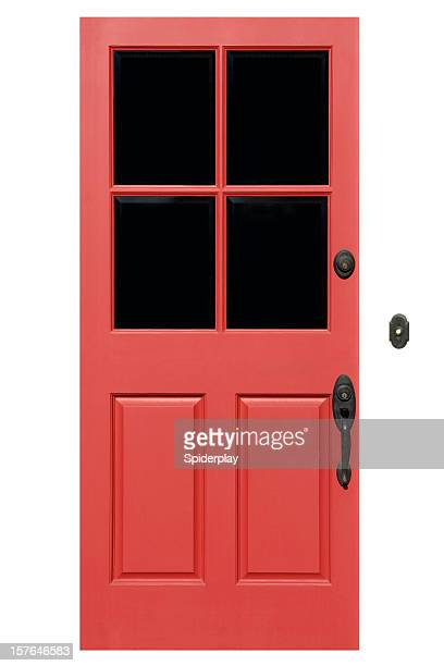 Red Front Door With Clipping Path