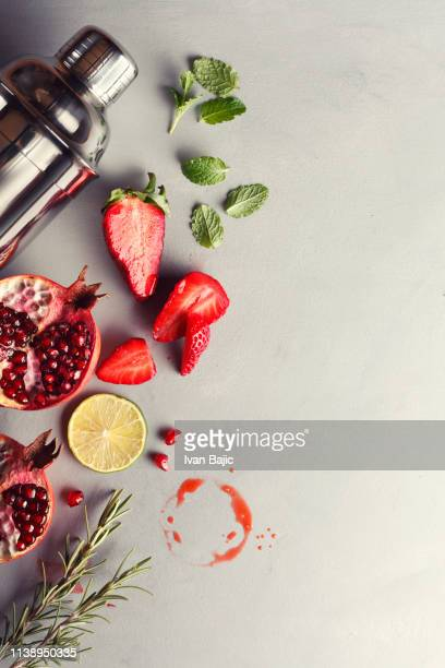 red fruit cocktail - cocktail stock pictures, royalty-free photos & images