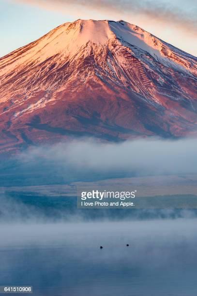 Red Fuji at Lake Yamanaka