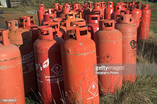 Red gas canisters