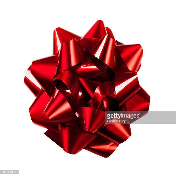 red gift bow - tied bow stock pictures, royalty-free photos & images
