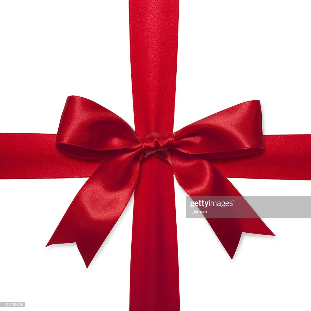 Red gift bow : Stock Photo