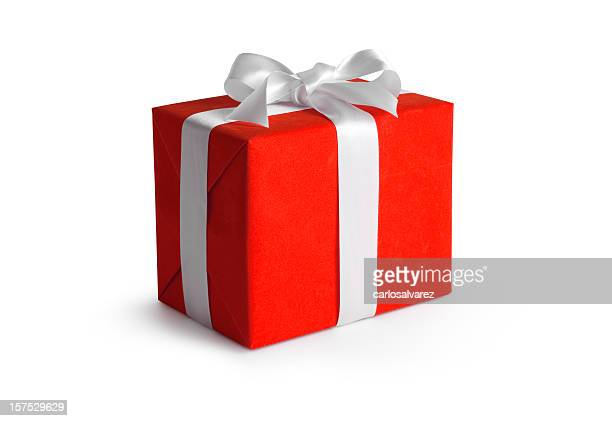 Red Gift Box w/Clipping path