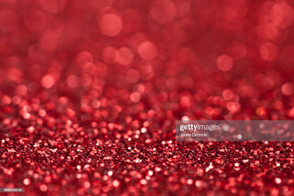 Red glitter background : Stock Photo