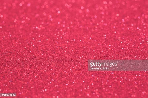 red glitter - hot pink stock photos and pictures