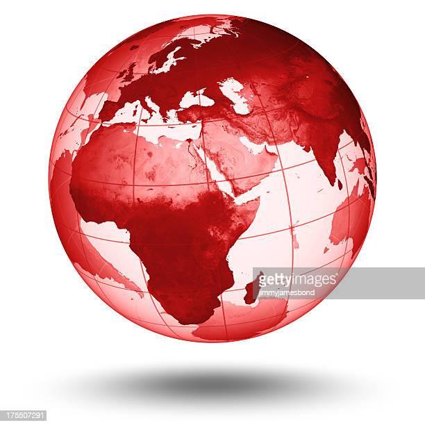 Red  Globe - European Eastern Hemisphere