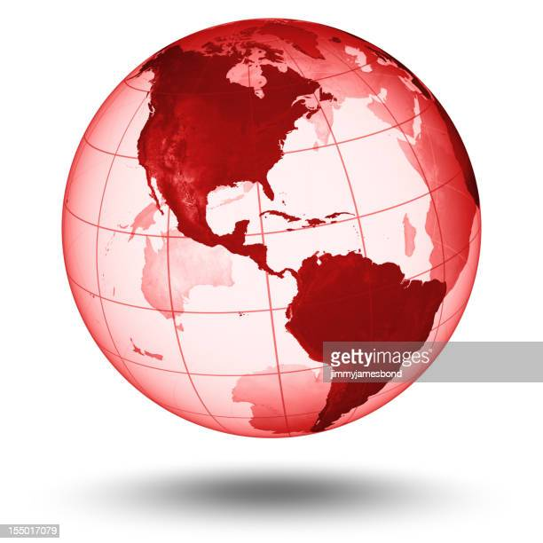 Red Globe - Western Hemisphere