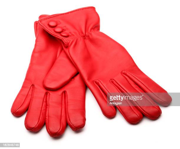 red glove - leather glove stock pictures, royalty-free photos & images