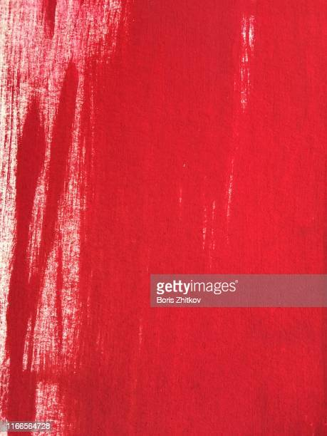 red gouache painted paper - red background stock pictures, royalty-free photos & images