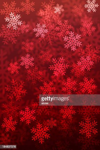 red gradient background of snowflakes - snowflake background stock photos and pictures