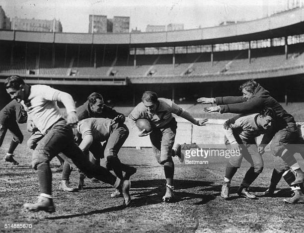 Red Grange in action with the Big Bears. Undated Photograph.