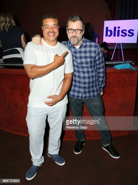 Red Grant and Rick Krusky attend Babes for Boobs Live Auction Benefiting Susan G Komen LA at El Rey Theatre on June 7 2018 in Los Angeles California