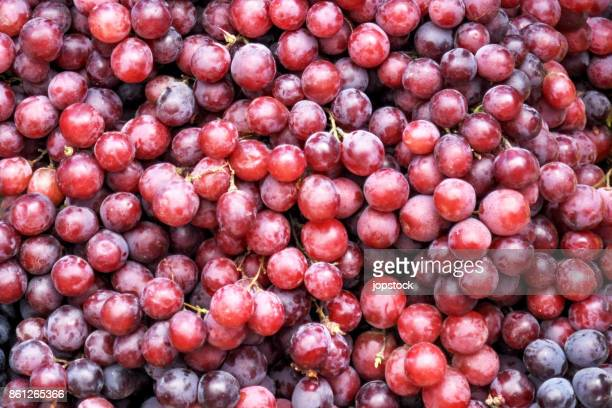 red grapes background - druif stockfoto's en -beelden