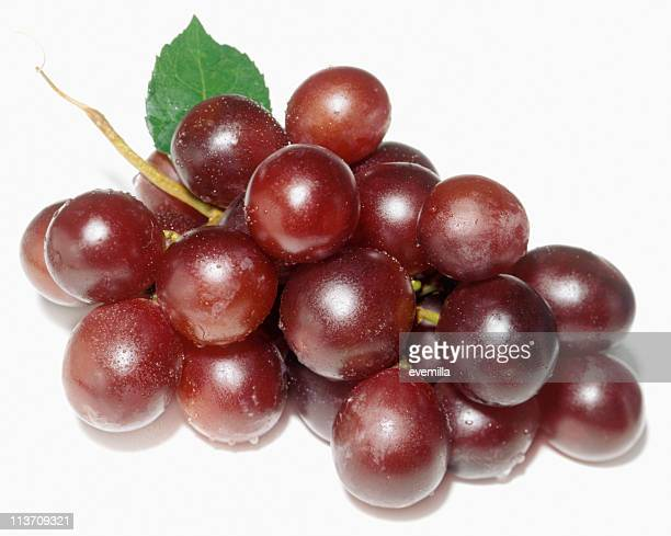 red grapes cut out on white