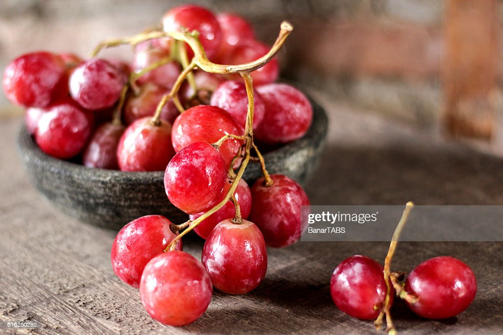 Red Grapes : Stock Photo