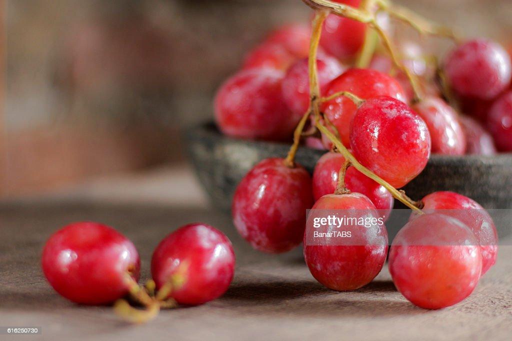 Uvas vermelhas : Foto de stock