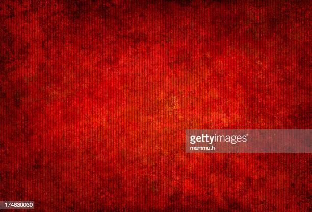 Vermelho grunge Papelão Corrugado