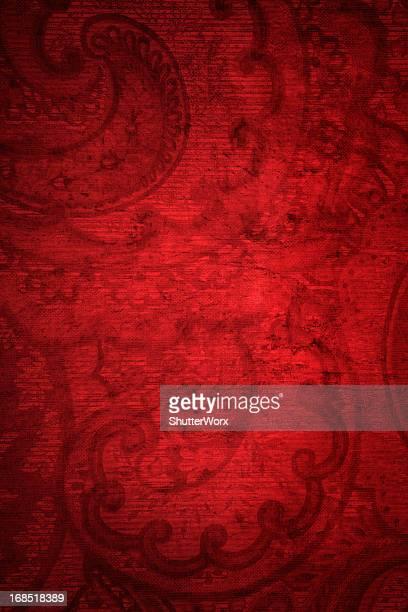 rouge grunge, fond vintage - cachemire motif photos et images de collection