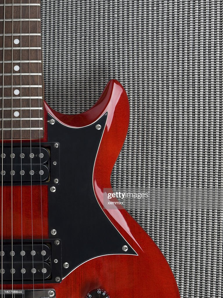 Red Guitar : Stock Photo