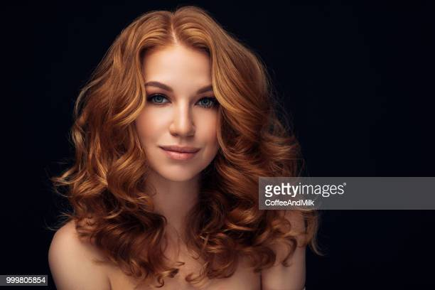 red haired woman - wig stock pictures, royalty-free photos & images