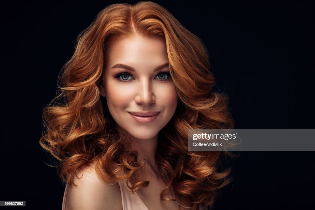 Red haired woman : Stock Photo