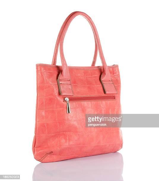 レッドのハンドバッグ