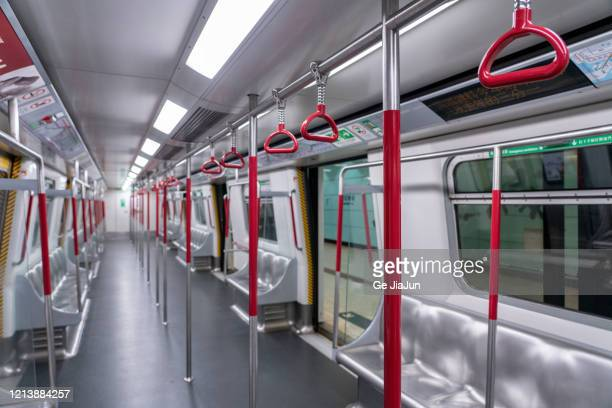 red handle in subway trains cabin - handle stock pictures, royalty-free photos & images
