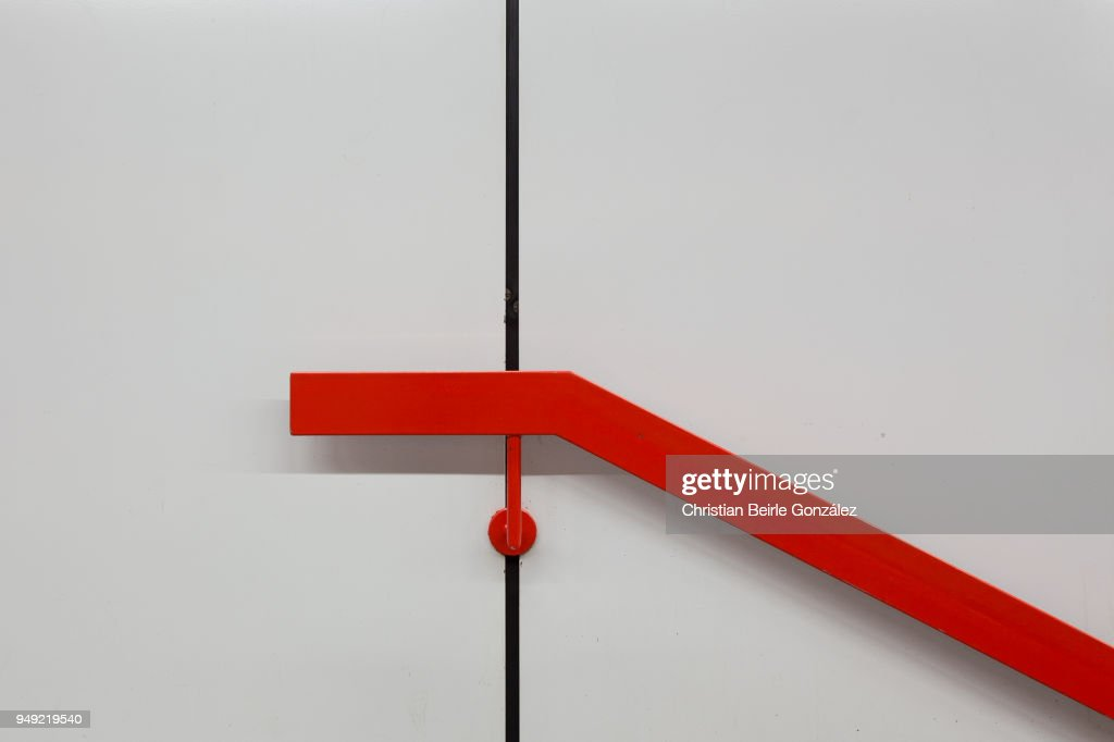 Red Handrail : Stock-Foto