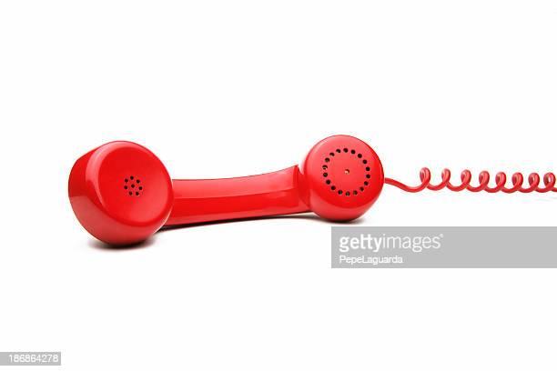 Mit roten Handapparat