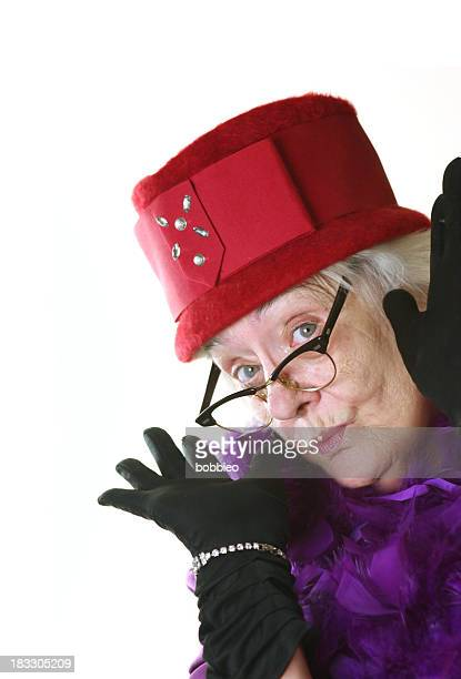 red hat lady fun