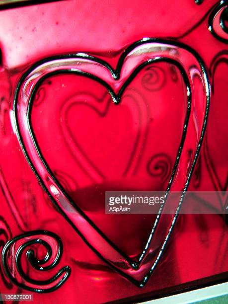 A red heart as a symbol for love.
