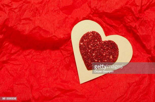 Red heart brocade shape