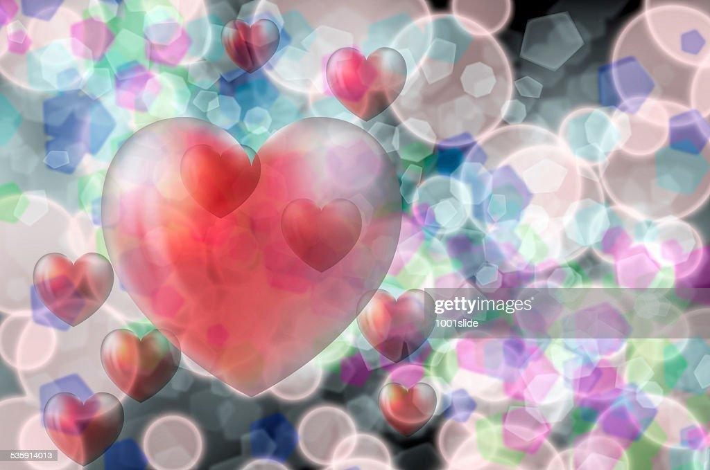 Rojo corazón : Foto de stock